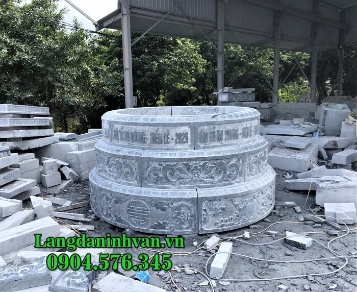 Kích thước xây mộ tròn