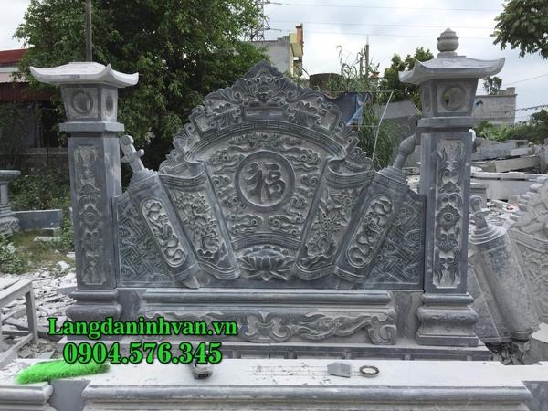 Mẫu cuốn thư bằng đá đẹp cho nhà thờ họ, khu lăng mộ, đình chùa giá rẻ