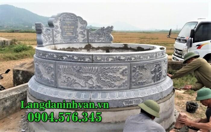Mẫu mộ tròn đẹp bằng đá chuẩn phong thủy