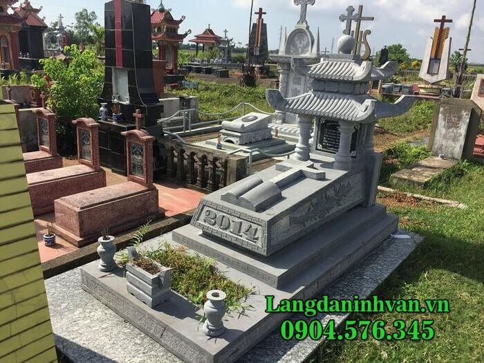 Mộ đá công giáo - Mẫu mộ đạo Thiên Chúa bằng đá đẹp