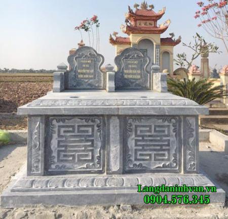 Mộ đá đôi - Mẫu mộ đôi song thân bằng đá đẹp nhất - Giá mộ đôi 2021