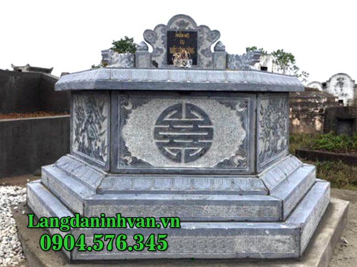 Mộ đá lục lăng - Mẫu mộ đá hình lục giác đẹp