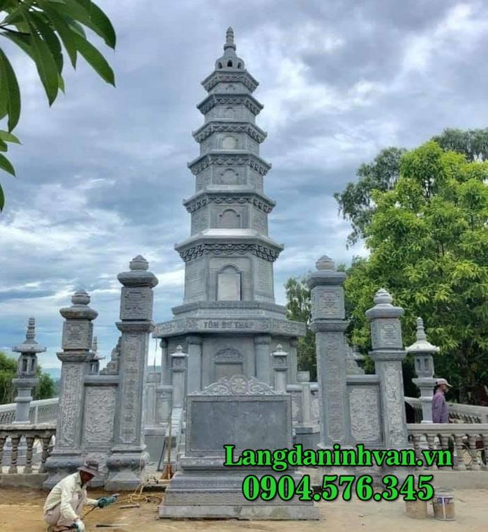 Mộ tháp đá - Mẫu mộ tháp Phật Giáo để hũ tro cốt bằng đá đẹp nhất