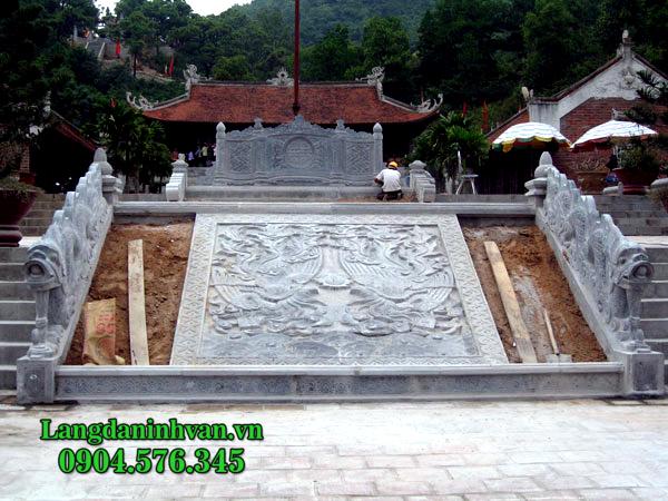 mẫu chiếu đá đình chùa