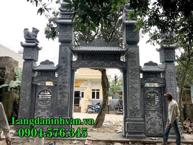 mẫu cổng đá nhà thờ họ