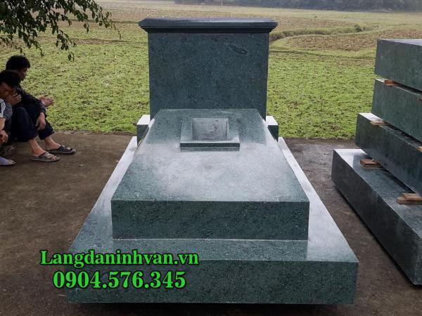 mẫu mộ đá xanh rêu đẹp nhất