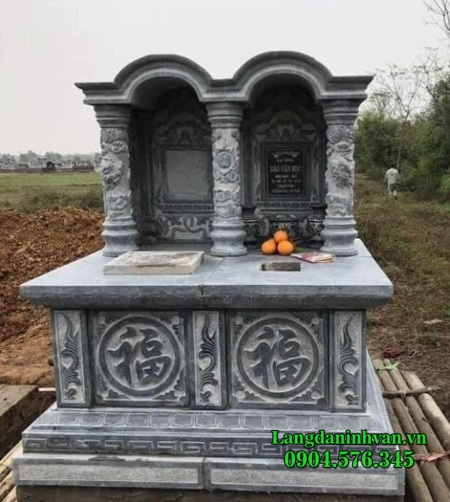 mẫu mộ đôi đơn giản bằng đá