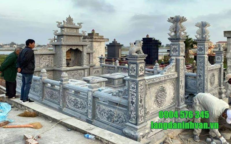 khu lăng mộ bằng đá tự nhiên bền đẹp