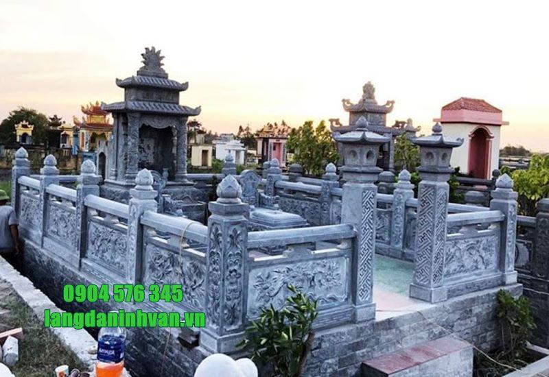khu lăng mộ gia tộc bằng đá xanh tự nhiên đẹp