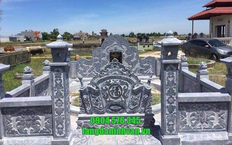 mẫu khu lăng mộ bằng đá tự nhiên đơn giản